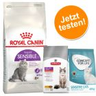 Kennenlernpaket: 2 kg Royal Canin Sensible 33  + 400 g Concept for Life und Hill's