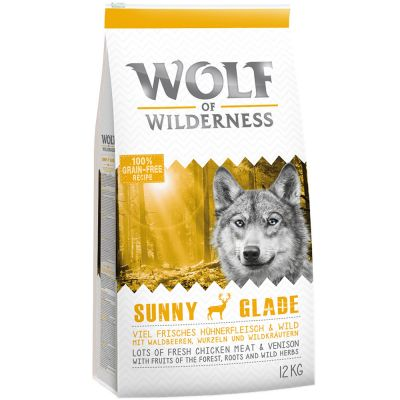 12kg Wolf of Wilderness Dry Dog Food - 6 x 400g Wet Food Free!*
