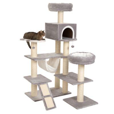kratzbaum knusperh uschen xxl mit leiter g nstig kaufen bei zooplus. Black Bedroom Furniture Sets. Home Design Ideas