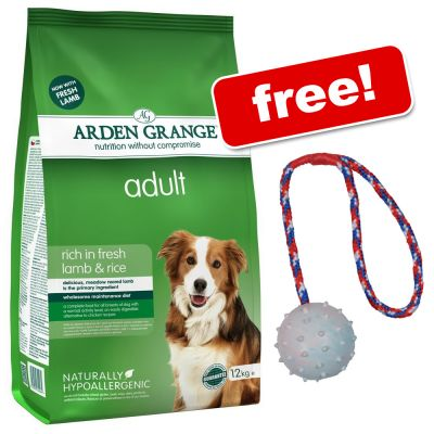 Large Bags Arden Grange Dry Dog Food + Rubber Ball with Throwing Handle Free!*