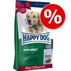 Large Bags Happy Dog Supreme Fit & Well Dry Dog Food + 2kg/2.5kg Extra Free!*
