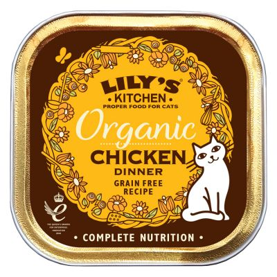 Lily\'s Kitchen Organic Chicken Dinner Wet Cat Food | Free P&P £29+