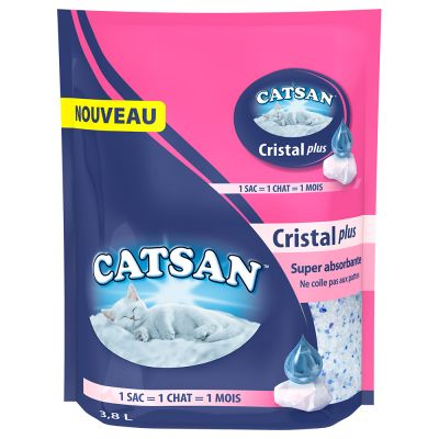 litiere chat cristaux
