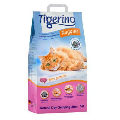 Litière Tigerino Nuggies gros grains - senteur talc pour chat