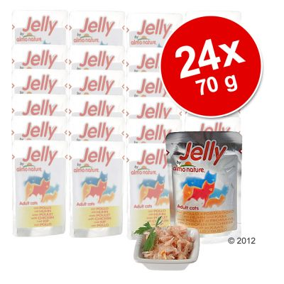 Lot Almo Nature Jelly 24 x 70 g pour chat