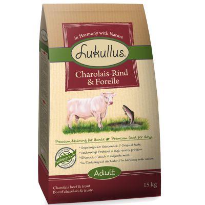 Lukullus Charolais-Rund & Forel Hondenvoer