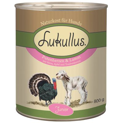 Lukullus Junior Cuore di tacchino & Agnello