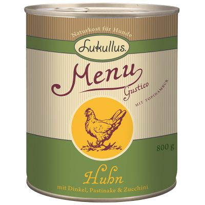 Lukullus Menu Gustico Huhn mit Dinkel, Pastinake & Zucchini