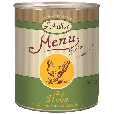 Lukullus Menu Gustico Pollo, Farro, Pastinaca & Zucchine