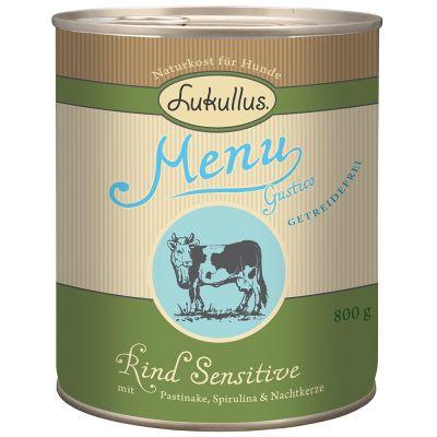 Lukullus Menu Gustico Sensitive, z wołowiną - bez zbóż