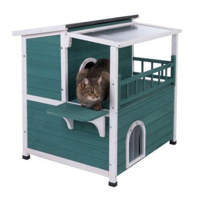 maisonnette marquise maisonnette d 39 ext rieur pour chat zooplus. Black Bedroom Furniture Sets. Home Design Ideas