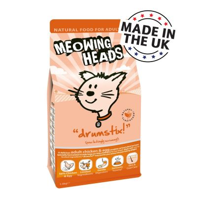Meowing Heads Drumstix Adult Chicken & Egg