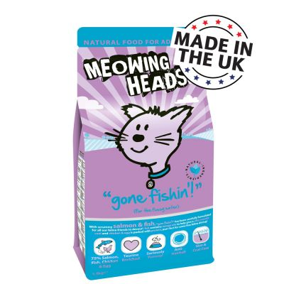 Meowing Heads Gone Fishin Adult White Fish & Chicken