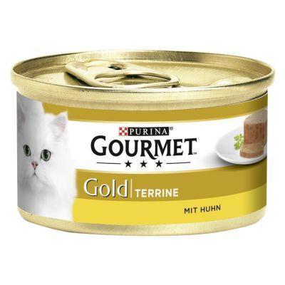 Mégapack Gourmet Gold Terrines 48 x 85g pour chat