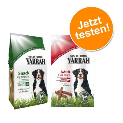 Mixpaket: 2 x Sorten Yarrah Bio Hundesnacks testen