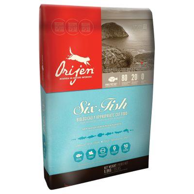 Orijen fish cat food free p p on orders 29 at zooplus for Orijen six fish cat food