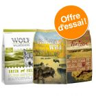 Pack Sans céréales : croquettes Purizon + Wolf of Wilderness + Taste of the Wild pour chien