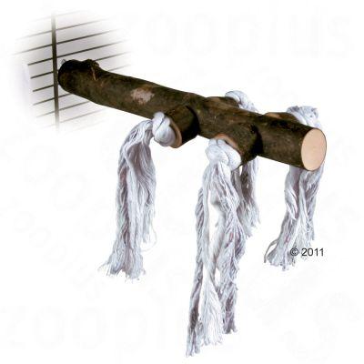 Perchoir naturel pour oiseaux avec corde de jeu