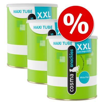 Prezzo speciale! Cosma Snackies XXL Maxi Tube Pesce Bianco 3 x 110 g
