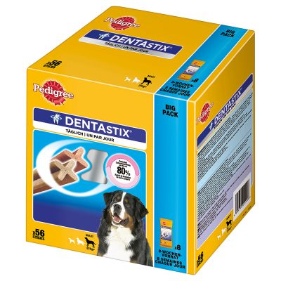 Probeerpakket: Grote zak Eukanuba + Pedigree Dentastix Multipack (56 stuks)