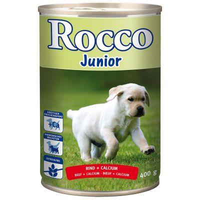 Probierset: Purizon Puppy - getreidefrei & 6 x 400 g Rocco Junior