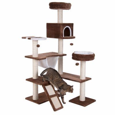 Rascador La casita de chocolate con rampa para gatos