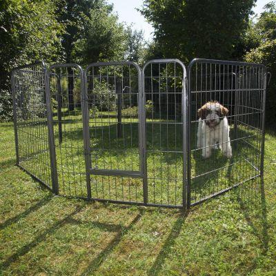 Recinto in metallo per cuccioli