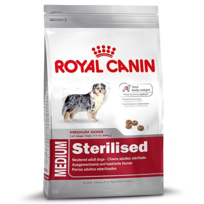 royal canin medium adult sterilised croquettes pour chien zooplus. Black Bedroom Furniture Sets. Home Design Ideas