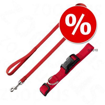 Set collare e guinzaglio - Hunter Ecco Sport rosso