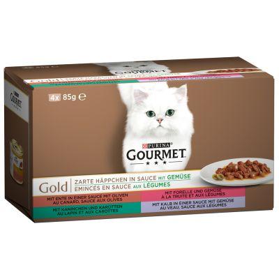 Set prova misto! Gourmet Gold 4 x 85 g