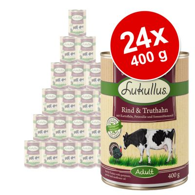 Set risparmio! Lukullus Adult 24 x 400 g