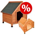 Set: Trixie Natura Pitched Roof Dog Kennel + Insulation