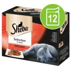 Sheba Pouches Select Slices Mixed Pack 12 x 85g