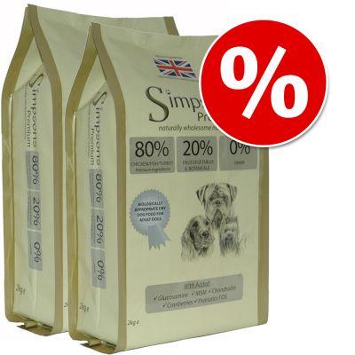 Simpsons Premium Dry Dog Food Economy Packs 2 x 12kg