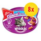 Sparepakke 8 x 55 g Whiskas Trio Crunchy Treats
