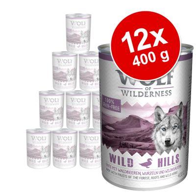 Sparpaket Wolf of Wilderness Adult 12 x 400 g