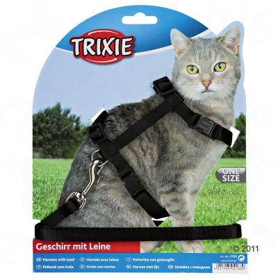 Szelki i smycz dla kotów Trixie z zamknięciem na zatrzask