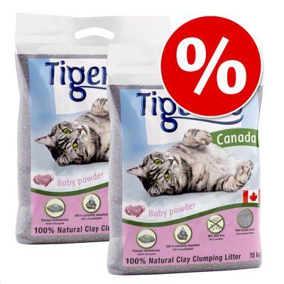 Tigerino Canada Katzenstreu 2 x 12 kg zum Sonderpreis