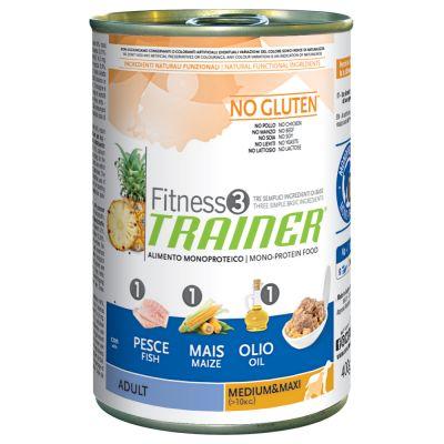 Trainer Fitness 3 Adult Medium/Maxi No Gluten Pesce & Mais