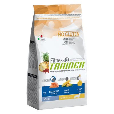 Trainer Fitness 3 Adult Mini No Gluten Salmone & Mais