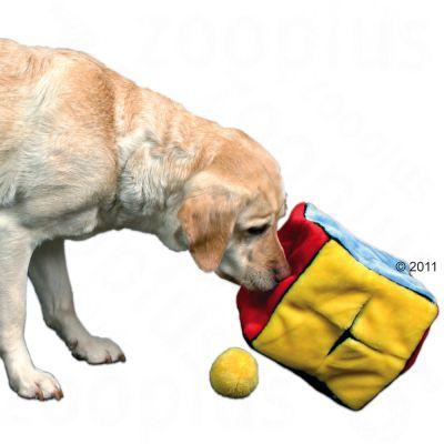 Trixie Dado di peluche con 4 palle gioco per cani