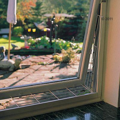 Trixie Grille de protection pour fenêtre à soufflet, blanche