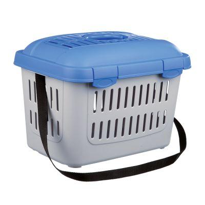Trixie Midi-Capri Pet Carrier - Light Grey & Blue