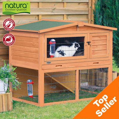 trixie natura small animal hutch with enclosure great. Black Bedroom Furniture Sets. Home Design Ideas