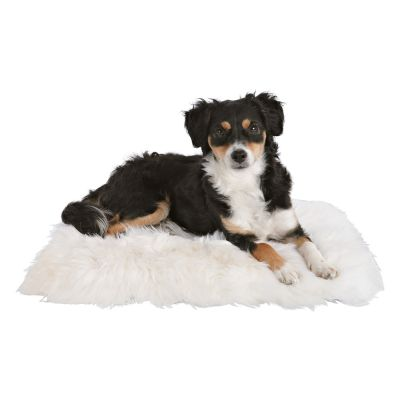 Trixie Sheepskin Cat Cushion - White