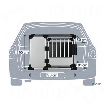 Trixie transportbox aluminium gr e s l g nstig kaufen for 1 1 2 box auto