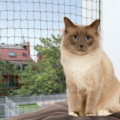 Trixie wzmocniona siatka ochronna dla kota, oliwkowa