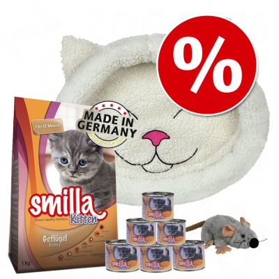 Welcome Kit Kitten Smilla + Lettino + Topo in peluche