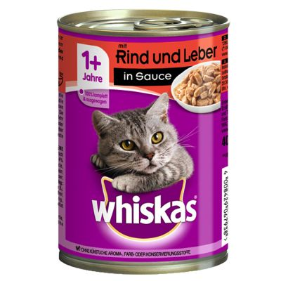 Whiskas 1+ lattine 12 x 400 g