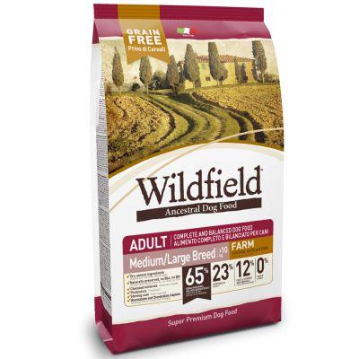 Wildfield Adult Farm Med/Large con Pollo, Anatra e Uova